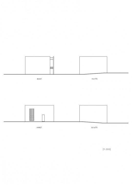 Maison sans fenêtres - plan