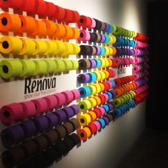 Renova vive le papier toilette de couleur - Couleur mur toilette ...