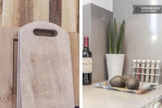 Penthouse à louer à Barcelone - accessoires déco de la cuisine