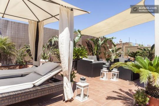 Penthouse à louer à Barcelone avec grande terrasse