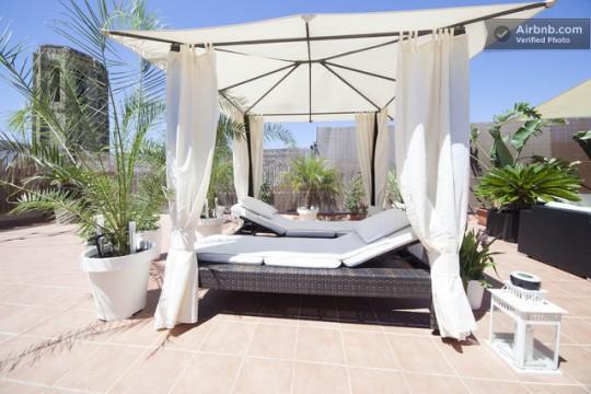 Penthouse à louer à Barcelone avec terrasse