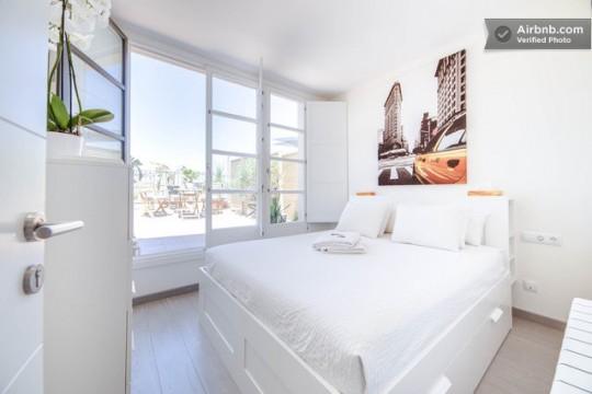 Penthouse à louer à Barcelone - chambre