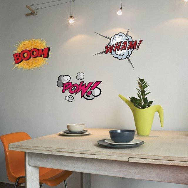 Déco BD : Stickers onomatopées de Comics à coller sur vos murs