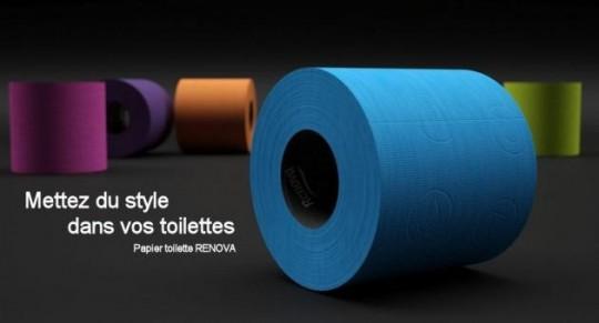 papier wc couleur Renova