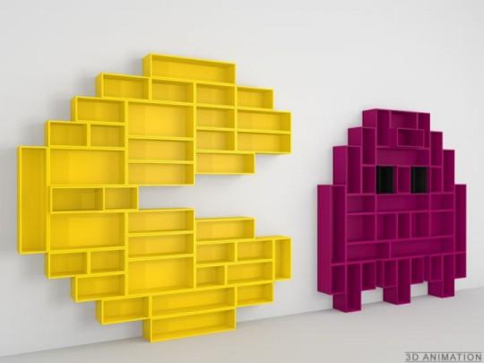 Etagères murales design PacMan by Cubit