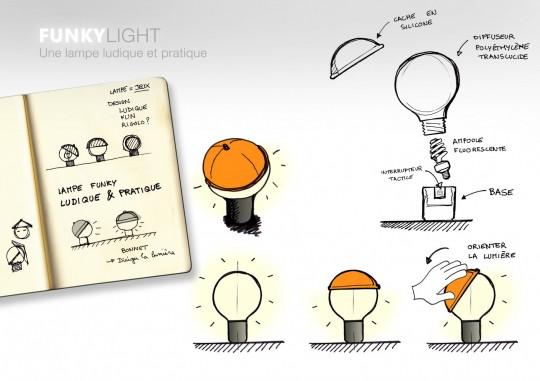 Funky Light - Lampe ludique et pratique
