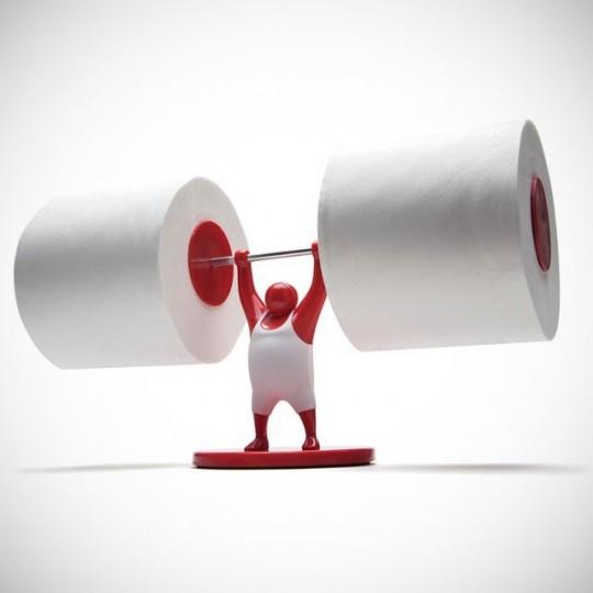 Mr T - L'haltérophile des rouleaux de papier toilette