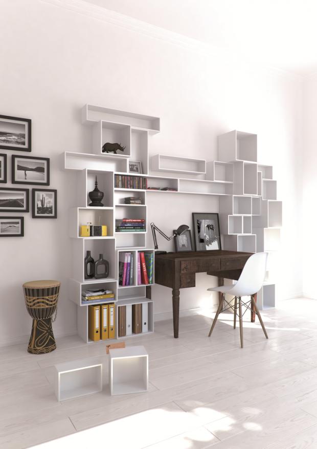 Rangement mural bureau cubit for Rangement pour bureau design