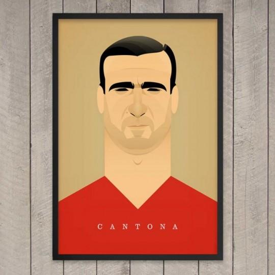 Tableau football prints Eric Cantona