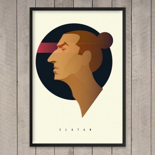 Tableau football prints Zlatan