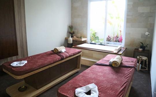Uppala Villa Umalas à Bali en Indonésie - espace soins et massage