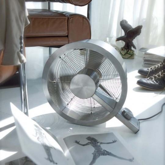 Ventilateur Q rond en aluminium brossé