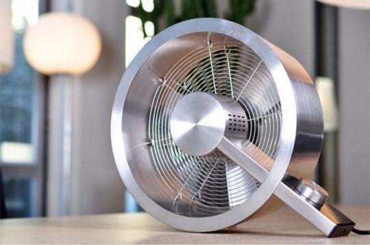Ventilateur design en aluminium brossé Q