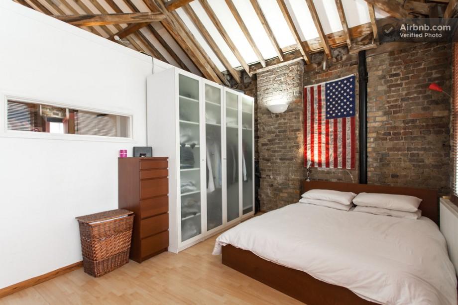 appartement esprit loft chambre avec dressing. Black Bedroom Furniture Sets. Home Design Ideas