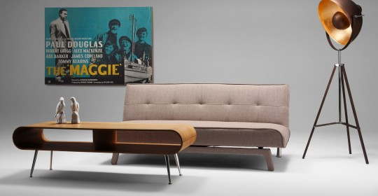 canap convertible clic clac en tissu beige yoko. Black Bedroom Furniture Sets. Home Design Ideas