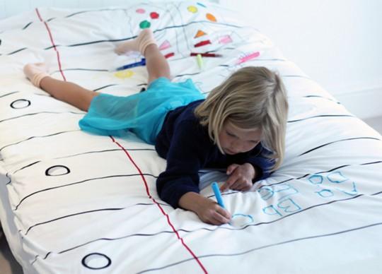 Doodle duvet à dessiner pour enfant