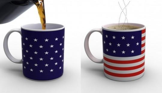 Mug magique drapeau américain