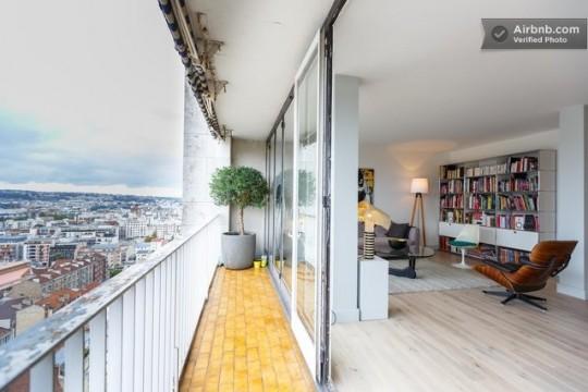 Appartement avec balcon filant