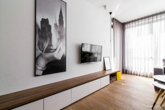 Appartement déco scandinave - meuble TV