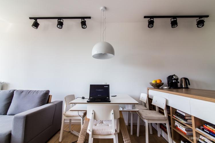 appartement d co scandinave table manger. Black Bedroom Furniture Sets. Home Design Ideas