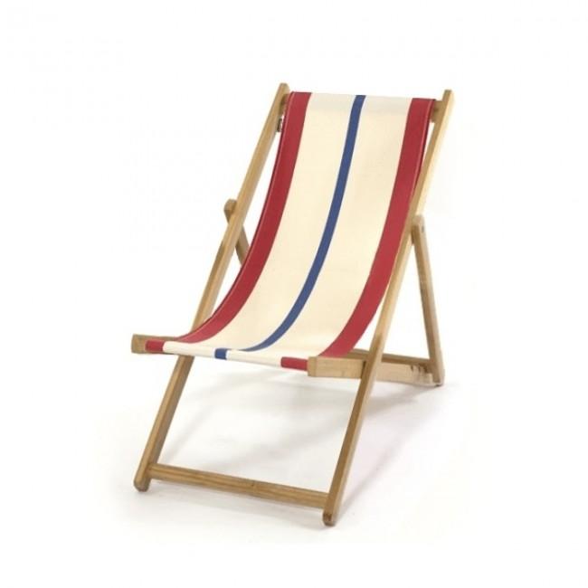 Indispensable  : La chaise longue en tissu rayé Loma