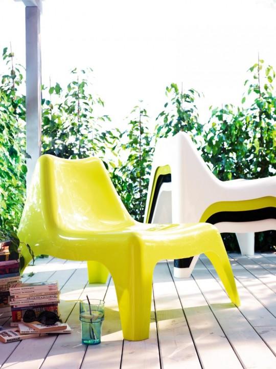 Fauteuil outdoor en résine IKEA PS VAgo