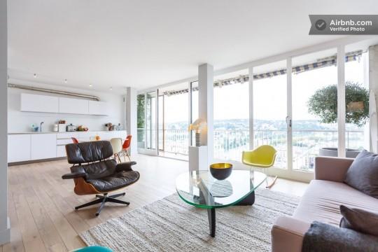 Grand appartement avec déco vintage et vue sur Paris