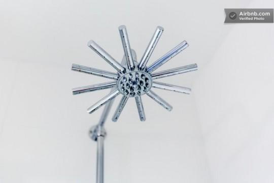 Pomme de douche en étoile design