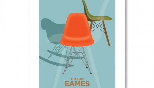 Poster American Flat Chaise Charles Eames