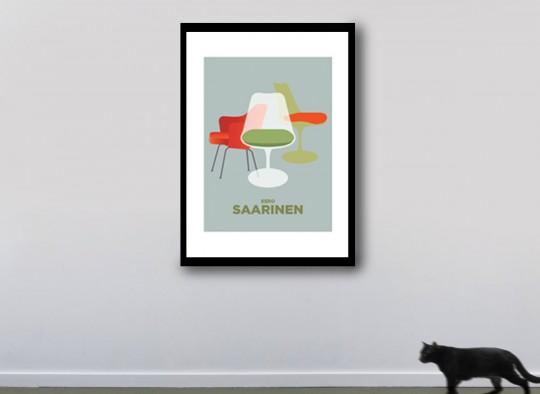 Poster American Flat Chaise Saarinen