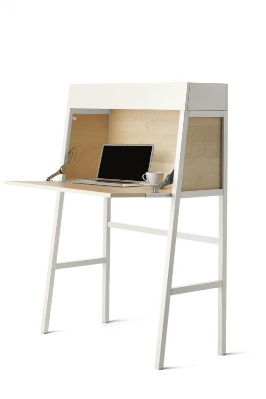 secr taire ikea ps un bureau design qui ne prend pas beaucoup de place. Black Bedroom Furniture Sets. Home Design Ideas