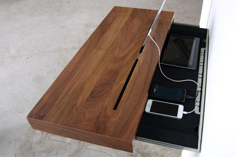 Etagere murale ordinateur portable - Console tablette murale ...