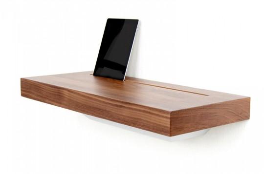 tablette murale pour recharger et ranger smartphones et tablettes. Black Bedroom Furniture Sets. Home Design Ideas