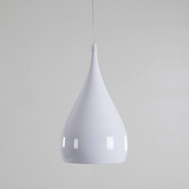 suspension goutellet en m tal blanc laqu. Black Bedroom Furniture Sets. Home Design Ideas