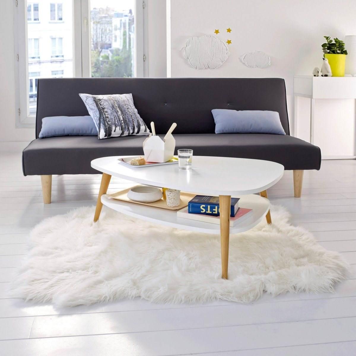 Table basse vintage avec 2 plateaux - Table basse vintage double plateau ...
