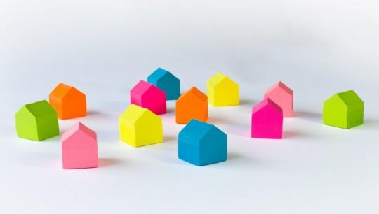 Village de maisons marque-pages