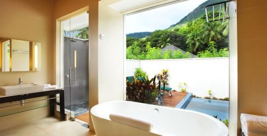 Hotel Hlton Labriz Seychelles - Beachfront villa avec douche extétrieure