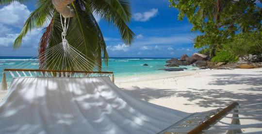 Hotel Hlton Labriz Seychelles - hamac au bord de la plage