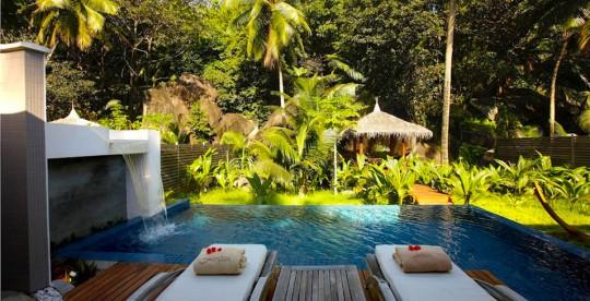 Hotel Hlton Labriz Seychelles - massage en plein air
