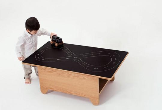Table basee Ping Pong avec plateau tableau noir pour dessiner