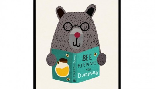 Tableau chambre d'enfant Bee Keeping