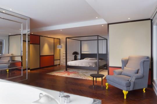 Appartement chinois déco colorée - chambre