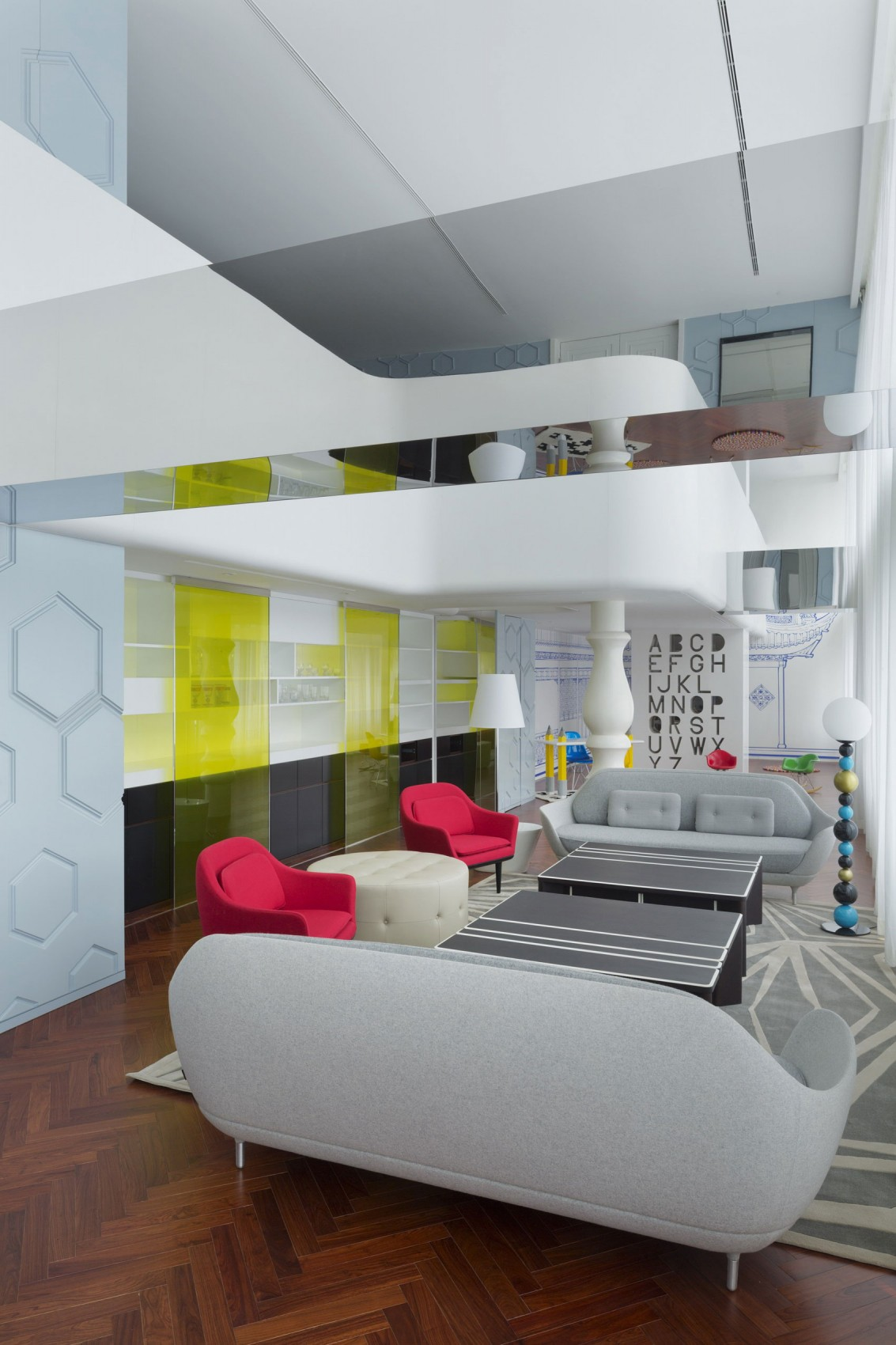 Appartement chinois déco colorée - salon