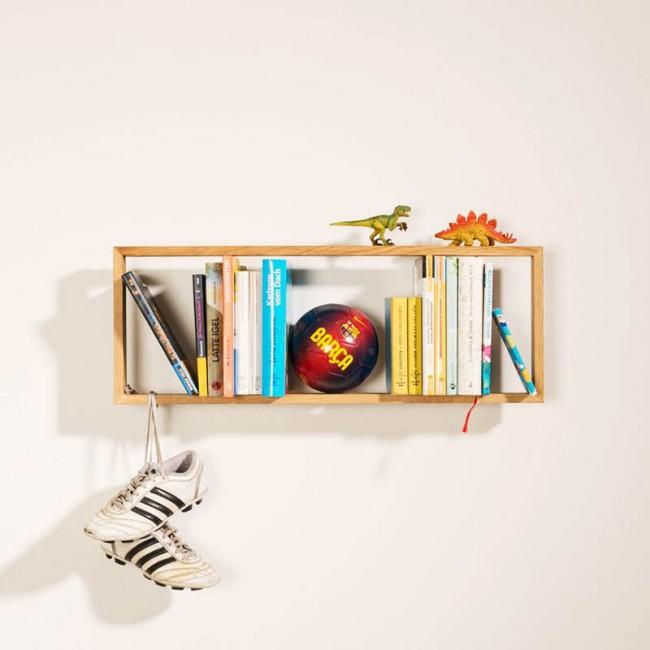 Flying shelf tag re murale en ch ne tendance - Etagere murale en chene ...