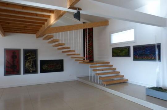 Maison comtemporaine à Azille - escalier
