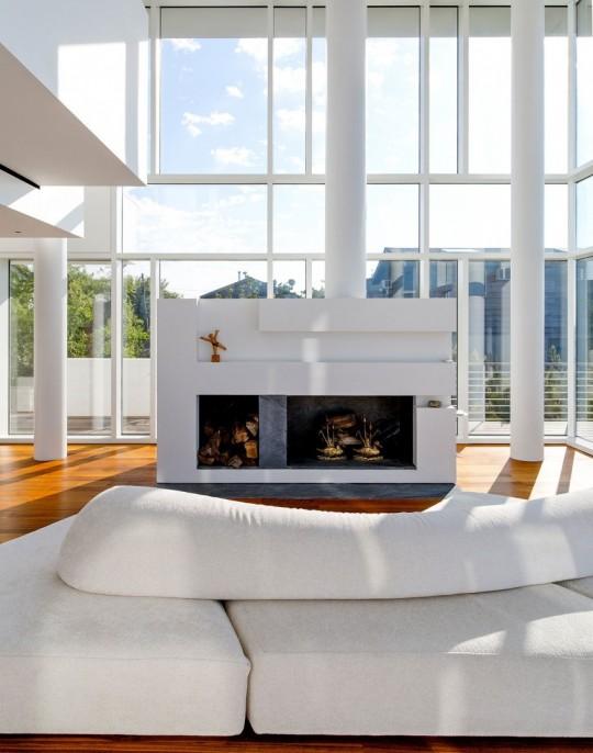 magnifique maison en verre sur la plage de long island new york. Black Bedroom Furniture Sets. Home Design Ideas