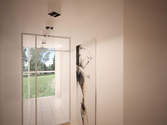 Starter House entrée avec un tableau contemporain