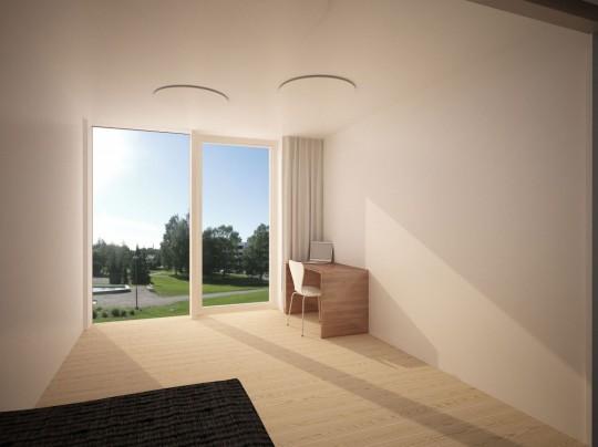 Starter House pièce avec coin bureau lumineuse