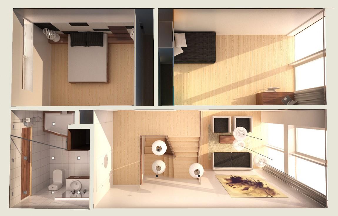 Cool Plan De Maison Moderne A Etage With Plan De Maison Moderne A Etage ...