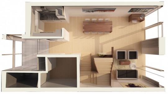 Starter House plan en 3D de la maison